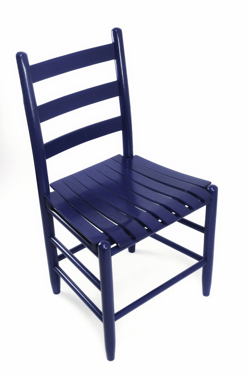 Blue Boone chair w/ slat seat