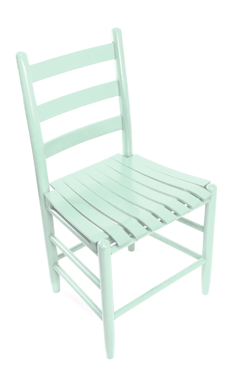 Coastal Blue Boone chair w/ slat seat