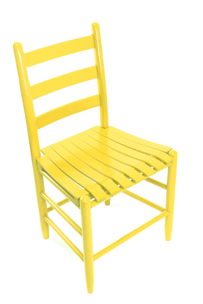 Coastal Yellow Boone chair w/ slat seat