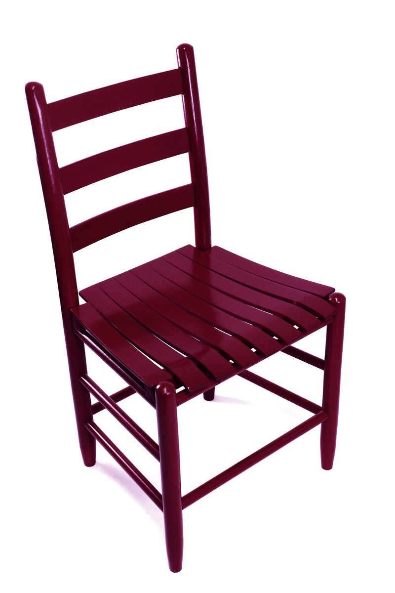 Cranberry Boone chair w/ slat seat