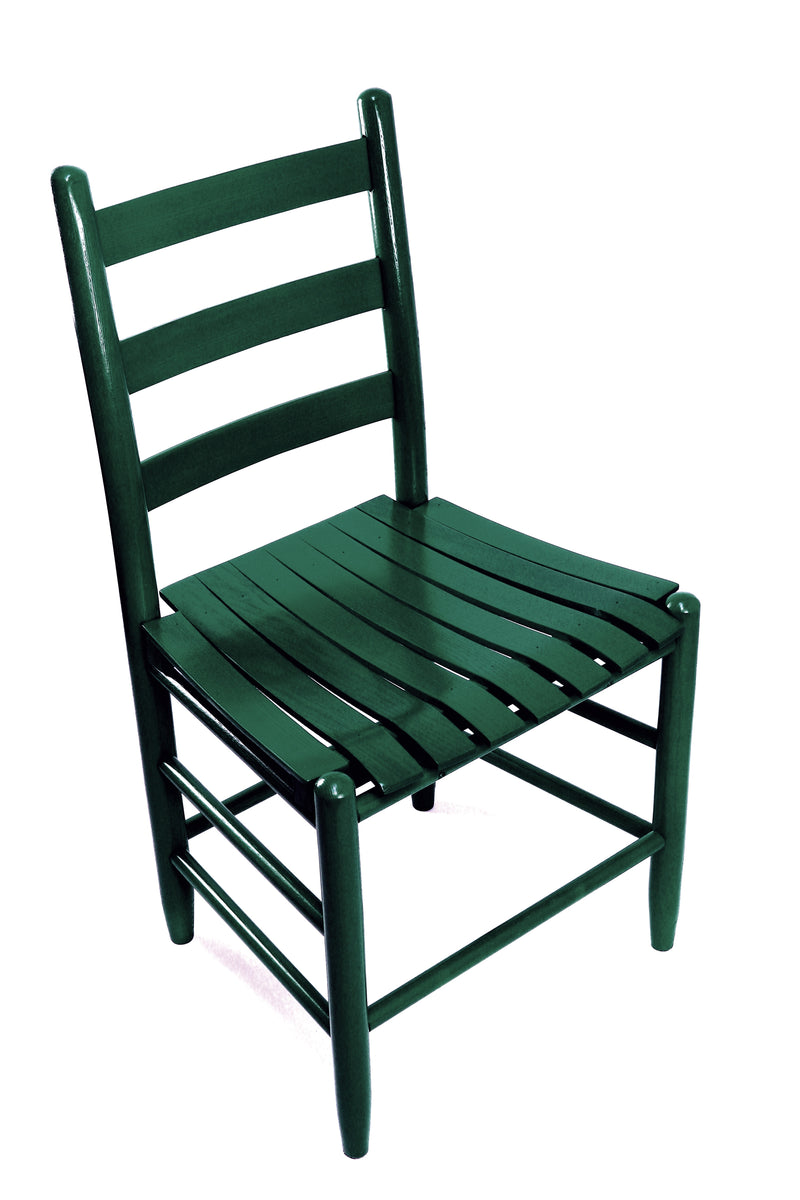 Green Boone chair w/ slat seat