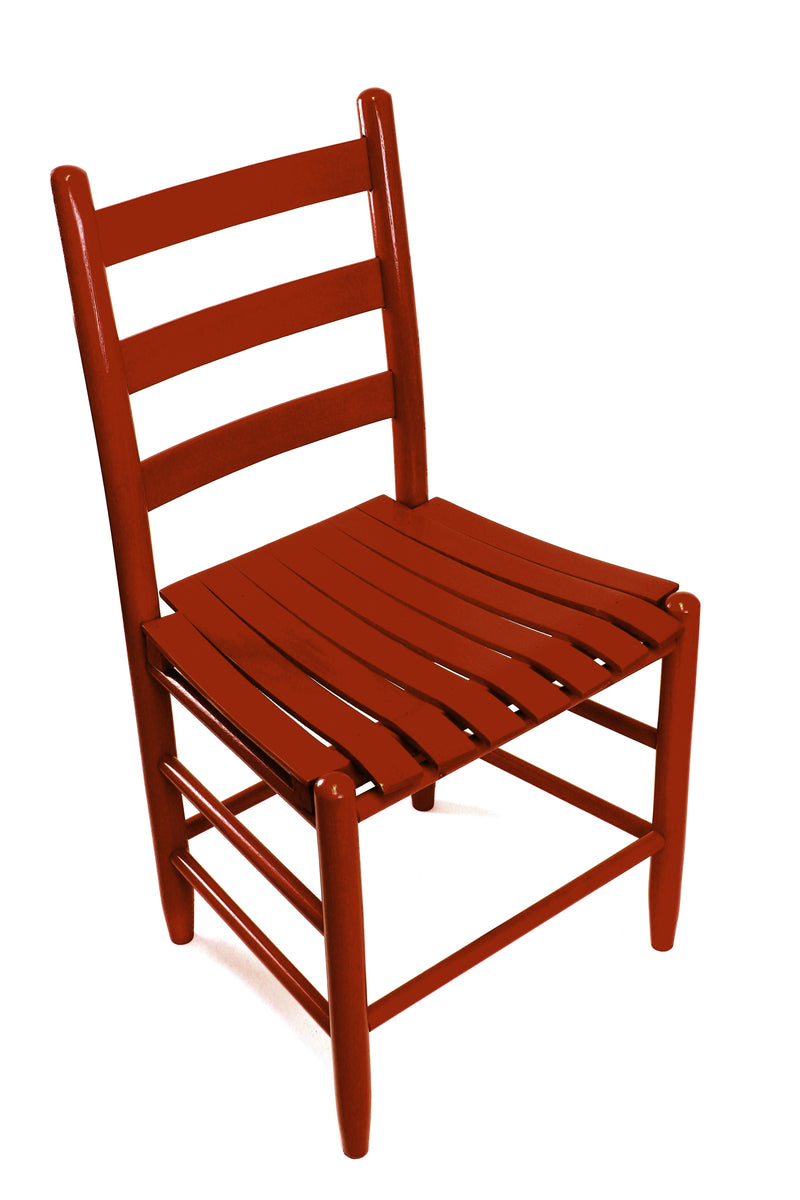 Sienna Red Boone chair w/ slat seat