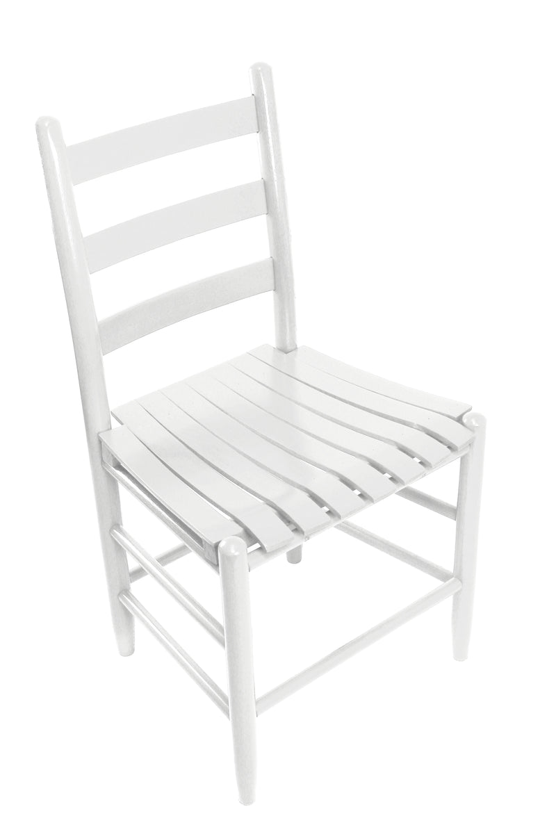 White Boone chair w/ slat seat