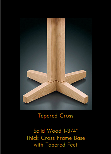 8000 Series Tapered cross table base