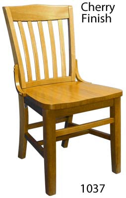 1-E1037RFD Schoolhouse Wood Chair