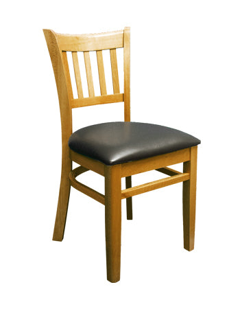 1-E1092 Vertical Back Wood Chair