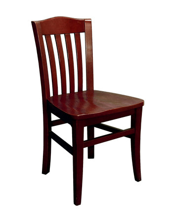 1-E1030RFD Vertical Slat Back Wood Chair