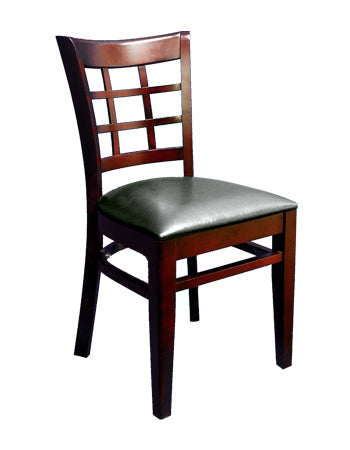Beechwood Lattice Back Veneer Chair, ERF-B1025-VN