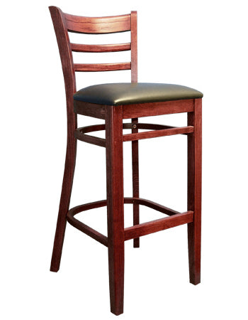 1-ED1100BSRFD Ladder Back Wood Restaurant Barstool