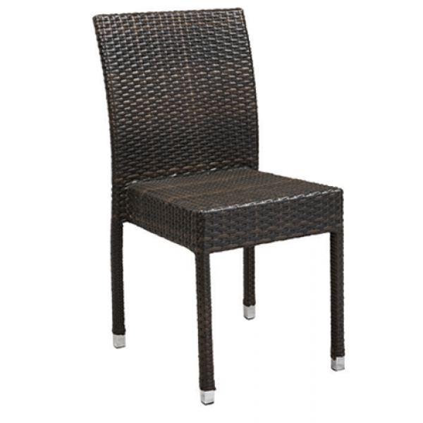 Amalfi Aluminum Chair w/ Rattan Back