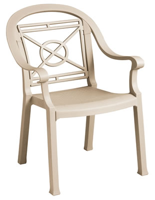 Victoria Classic Stacking Armchair Sand Mist