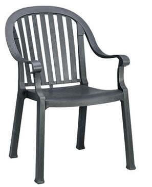 Colombo Stacking Armchair Charcoal