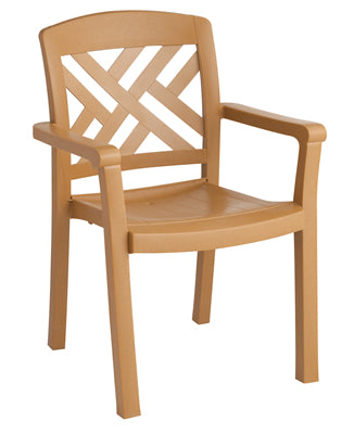 Sanibel Stacking Dining Armchair Teakwood