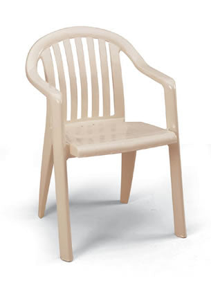 Miami Lowback Stacking Armchair Sandstone