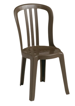 Miami Bistro Stacking Sidechair Taupe