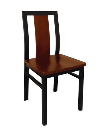 E140 Center Slat Metal Chair