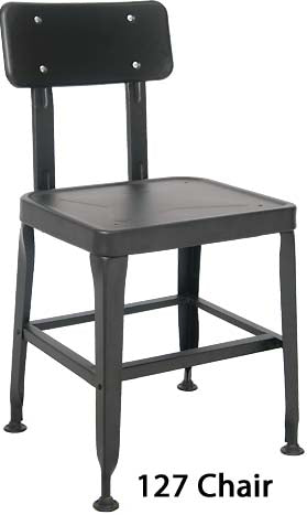 E127 Black Finish Metal Chair