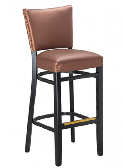 Oxford Beechwood Barstool W/ Padded Back, GA9626BS