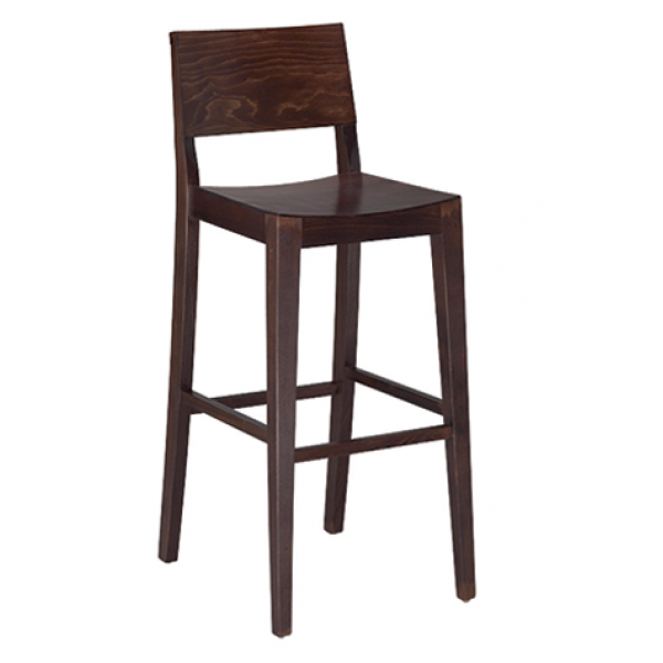 Madison barstool in walnut finish