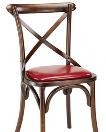 Cross Back Elm Bentwood Barstool, GA9688