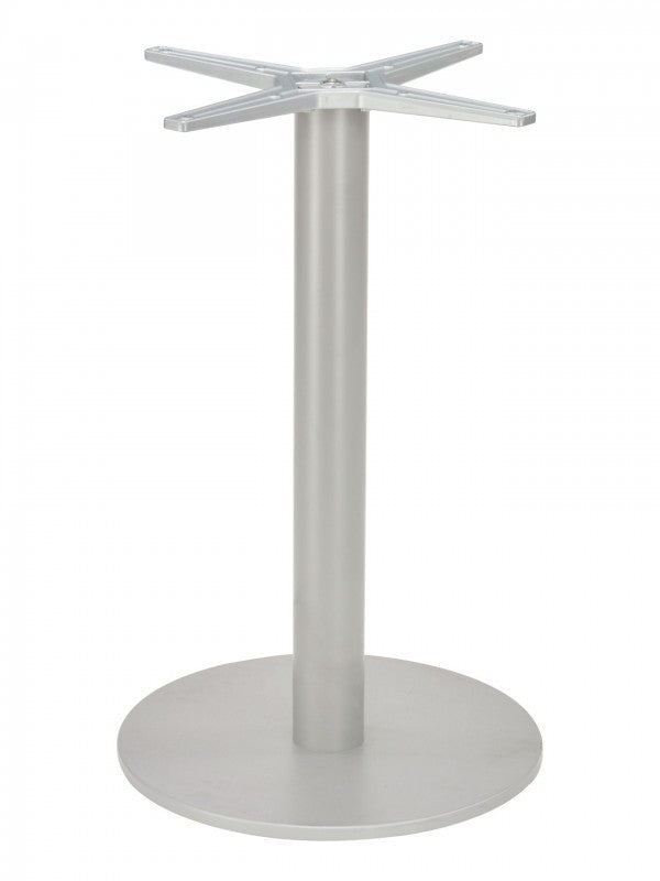 "Aluminum Cross Top w/ Round Base Table Base for 24"" to 48"" Table Tops, FLSAL2400TB8X3"