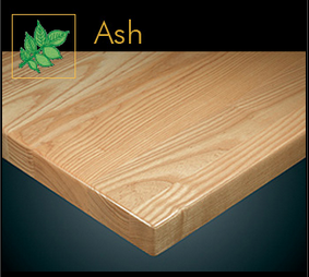 2400 Series Contemporary Ash Plank Table Top