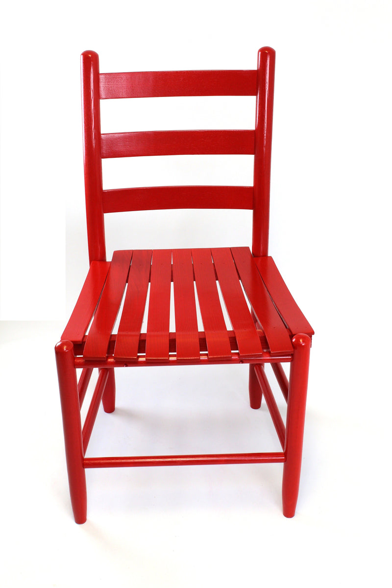 Red Boone chair w/ slat seat
