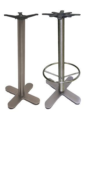 Cross Style (4-Prong) Stainless Steel Table Base 1SXJIRFD