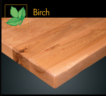2800RP Series Rustic Birch Plank Table Top