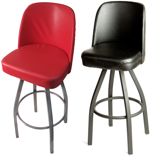 Bucket Clear Coat Swivel Barstool