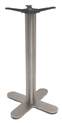 Cross Style (4-Prong) Stainless Steel Table Base