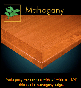 3242 Series Mahogany Veneer Table Top