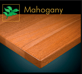 2600 Series Elegant Mahogany Plank Table Top