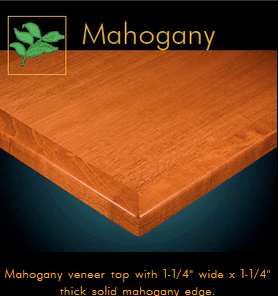 3240 Series Mahogany Veneer Table Top