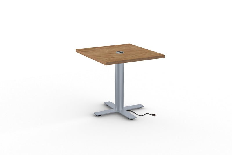 Sienna X Cafe Series Square Laminate Table with Power Management