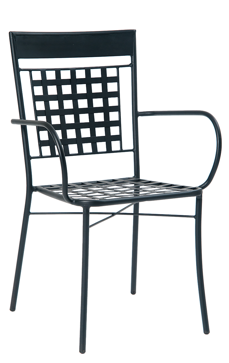 Black Iron ArmChair, ERF-OF-22