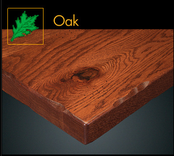 1400RP Series Rustic Oak Plank Table Top