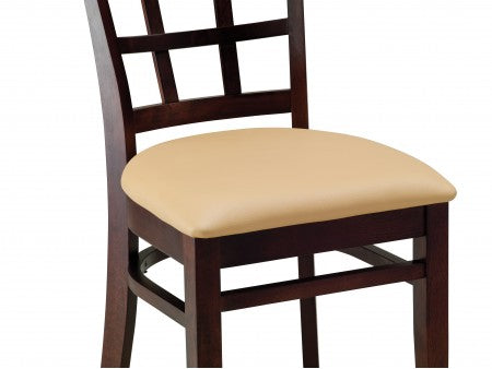 Mirage Beechwood Chair with Upholstered Back