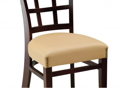 Venice Beechwood Chair with Upholstered Padded Back