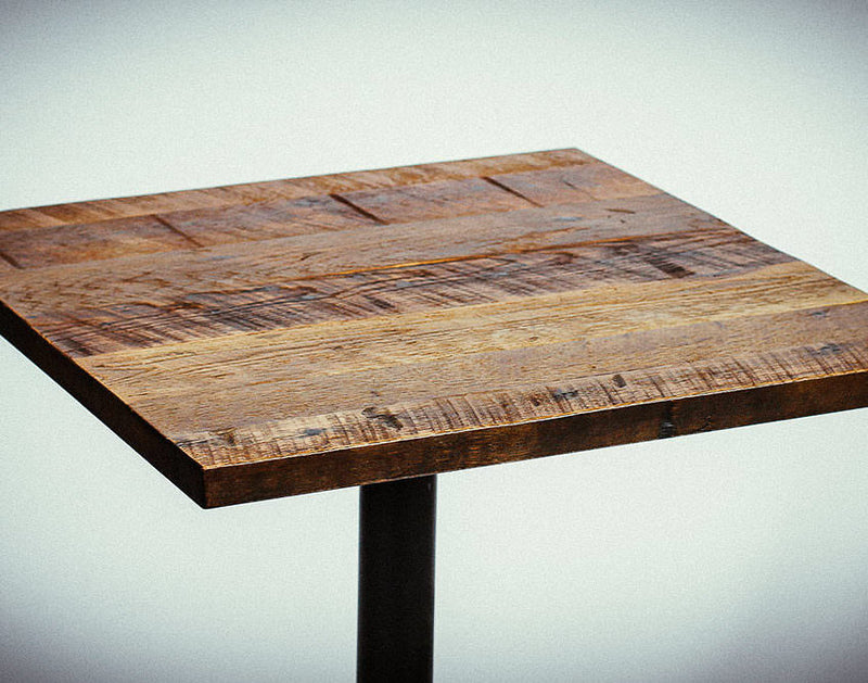 FSC® Certified Antique Barnwood Reclaimed Wood Table Top in Natural Stain