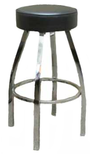 Button Top Swivel Clear Coat Frame Barstool