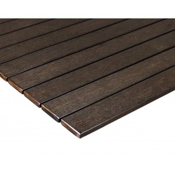 ST Series Aluminum Frame With Synthetic Teak Slats Table Top