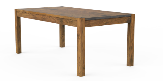 Solid Wood Plank Top Classic Parsons Tables