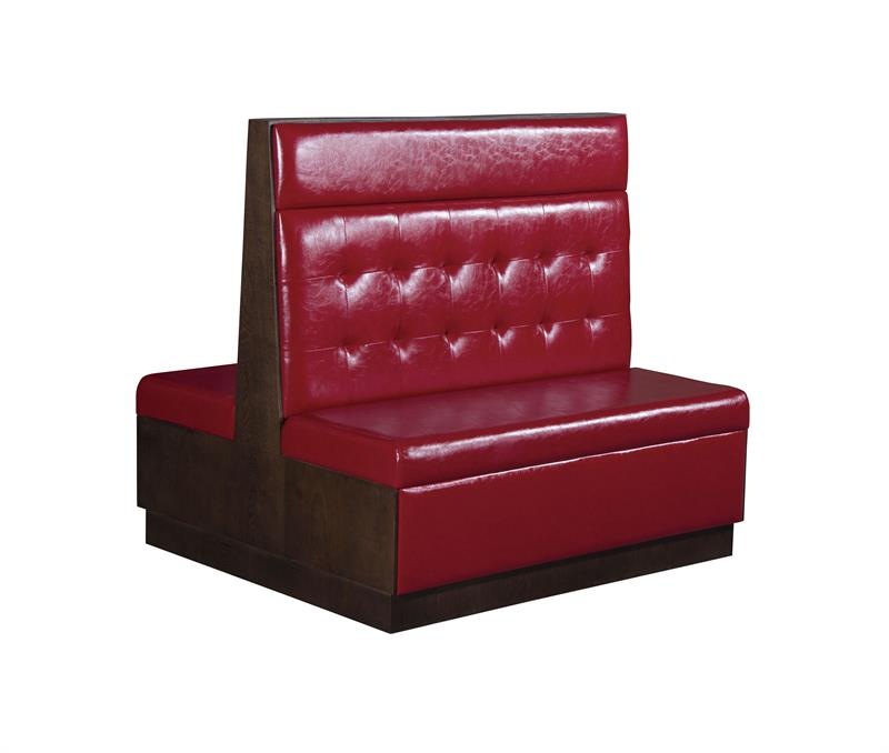 Red Tufted Vinyl Back with Headroll,  ERF-VBD-46-3