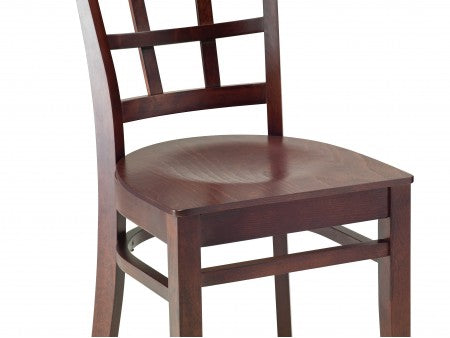 Elm Bentwood Chair with Cross Back