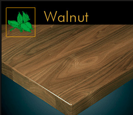 3000 Series Contemporary Walnut Plank Table Top