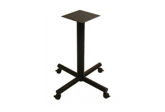 Single Column X-Base Indoor Metal Table Base w/ Locking Caster