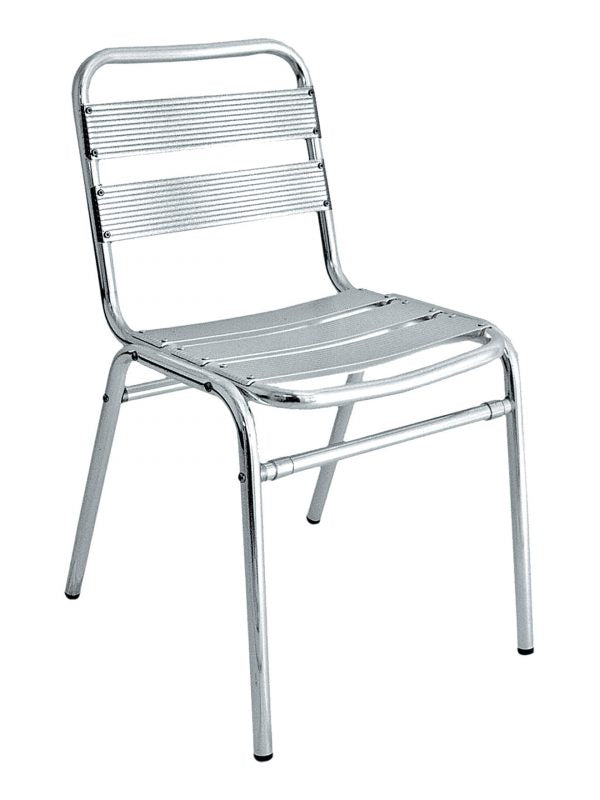 Aluminum Outdoor Chairs, Stackable, Ladder Back & Seat, Clearwater Series