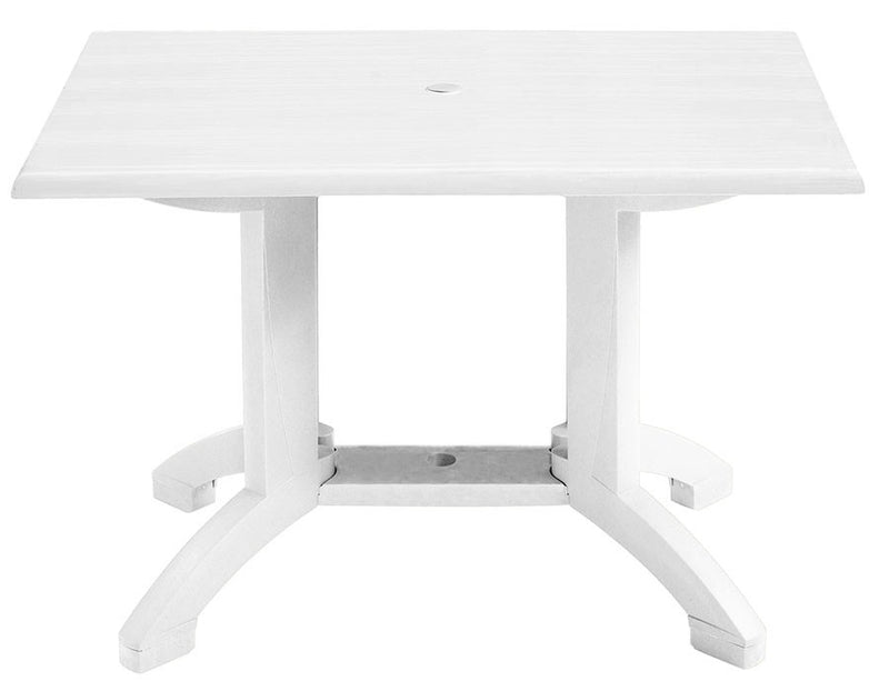 "48"" X 32"" Outdoor Atlanta Table w/ 4-Prong Pedestal Base"