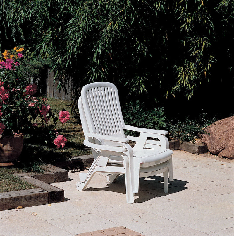 Bahia Stacking Highback Deck Chair with Pullout Footrest